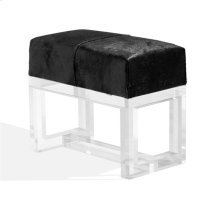 Avalon Stool - Black Hide