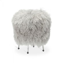 Antonia Stool - Grey Sheepskin