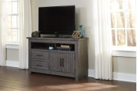 54 Inch Console - Distressed Dark Gray Finish Product Image