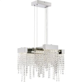 Crystal Falls Semi-Flush Mount in Polished Nickel