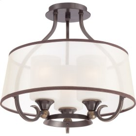 Palmer Semi-Flush Mount in Palladian Bronze