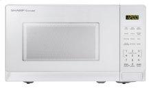 0.7 cu. ft. 700W Sharp White Carousel Countertop Microwave Oven (SMC0710BW)