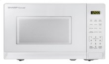0.7 cu. ft. 700W Sharp White Carousel Countertop Microwave Oven