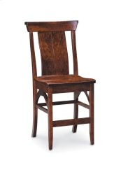 B&O Railroade Trestle Bridge Stationary Barstool, Fabric Cushion Seat