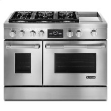 "Pro-Style® 48"" Dual-Fuel Range with Griddle and MultiMode® Convection"
