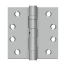 """4""""x 4"""" Square Hinge - Brushed Stainless"""