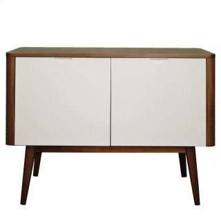Napolitano Small Cabinet/Buffet 2 Doors, Walnut/White