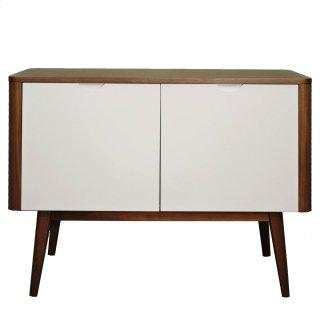 Napolitano Small Cabinet/Buffet 2 Doors, Walnut/White