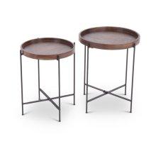 """Capri Nesting Tables L-18""""x18""""x21"""" S-16""""x16""""x19"""""""