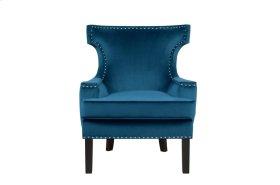 Accent Chair, Blue Velvet