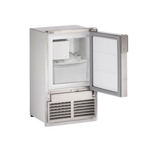 "U-Line Marine Series 14"" Marine Crescent Ice Maker With Stainless Solid Finish And Field Reversible (Flush To Cabinet) Door Swing (220-240 Volts / 50 Hz)"