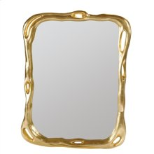 Cast Resin Gold Leaf Biomorphic Mirror