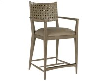 Milo Leather Counter Stool - Grigio