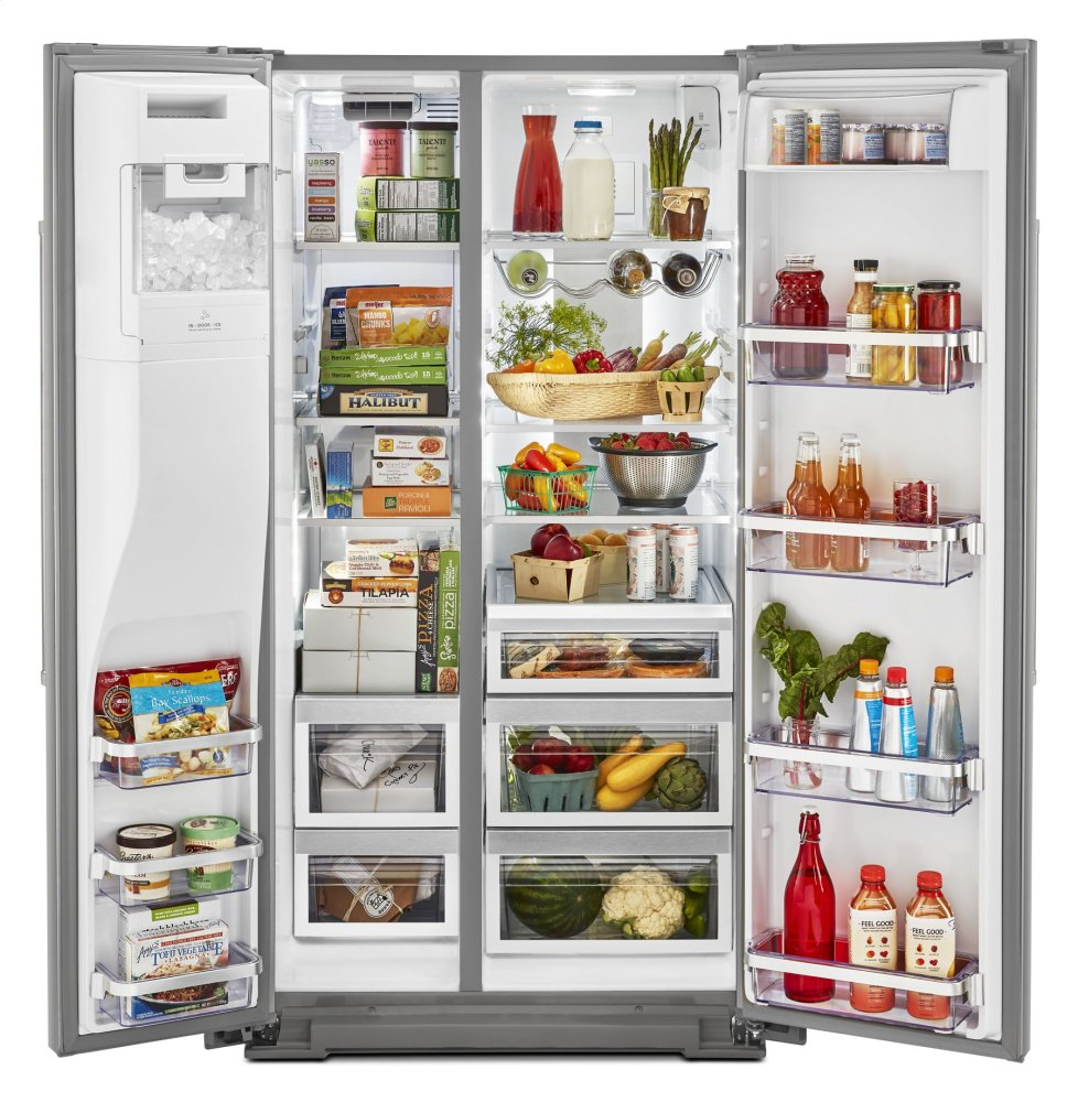KRSF705HPS Kitchenaid 24.8 cu ft. Side-by-Side Refrigerator ...