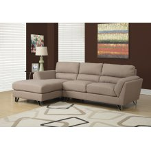 SOFA LOUNGER - LIGHT BROWN LINEN FABRIC