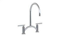Sospiro Contemporary Bridge Kitchen Faucet