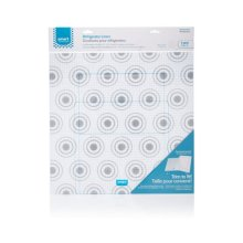 Smart Choice Trim-to-Fit Refrigerator Liner, Grey Circles 2 Pack