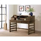 Perspectives - Leg Desk With Hutch - Brushed Acacia Finish Product Image