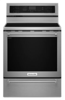30-Inch 5 Element Electric Convection Range with Warming Drawer - Stainless Steel