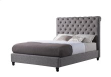 Upholstered Nailhead Scroll Bed - Sunset Trading