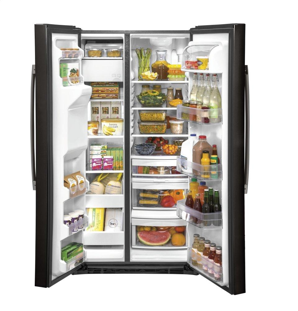 Gss25ibnts Ge 174 25 1 Cu Ft Side By Side Refrigerator