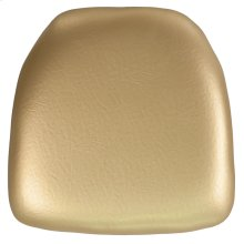 Hard Gold Vinyl Chiavari Chair Cushion