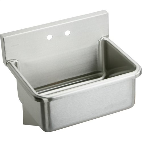 """Elkay Stainless Steel 31"""" x 19.5"""" x 10-1/2"""", Wall Hung Single Bowl Hand Wash Sink"""