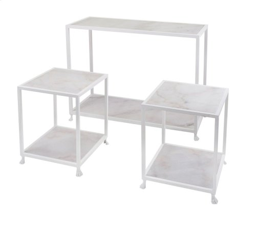 Windsor Marble Console and Accent Tables - Set of 3