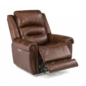 Oscar Fabric Power Recliner with Power Headrest