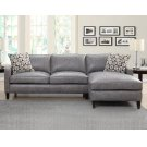 "Alder Left Arm Loveseat, Dark Grey, 69""x36""x36"" w/One Pillow Product Image"