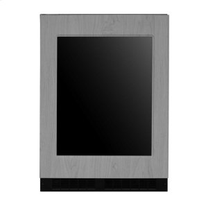 Marvel24-In Built-In Dual Zone Wine And Beverage Center with Door Style - Panel Ready Frame Glass, Door Swing - Left