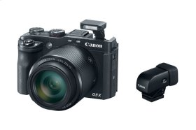 Canon PowerShot G3 X with Electronic Viewfinder EVF-DC1 Large sensor, superzoom compact camera with Electronic Viewfinder