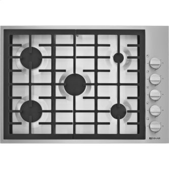 """30"""", 5-Burner Gas Cooktop, Pro-Style(R) Stainless Knob"""