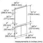"Thermador36"" Stainless Steel Panel Set for Bottom-Freezer - Flat TFL36IB800"