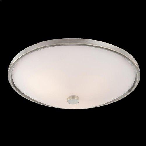 3-LIGHT FLUSHMOUNT - Satin Nickel