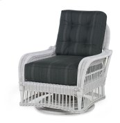Mainland Wicker Swivel Lounge Chair W/ Button Back