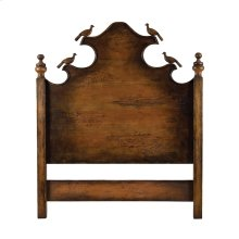 QUEEN HEADBOARD W / CARVED BIRDS