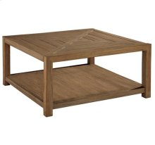 Weathered Transitions Square Coffee Table w/Casters