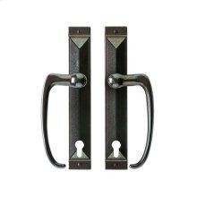 """Mack Entry Sliding Door Set - 1 3/4"""" x 11"""" Silicon Bronze Brushed"""