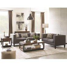 Sawyer Transitional Charcoal Three-piece Living Room Set