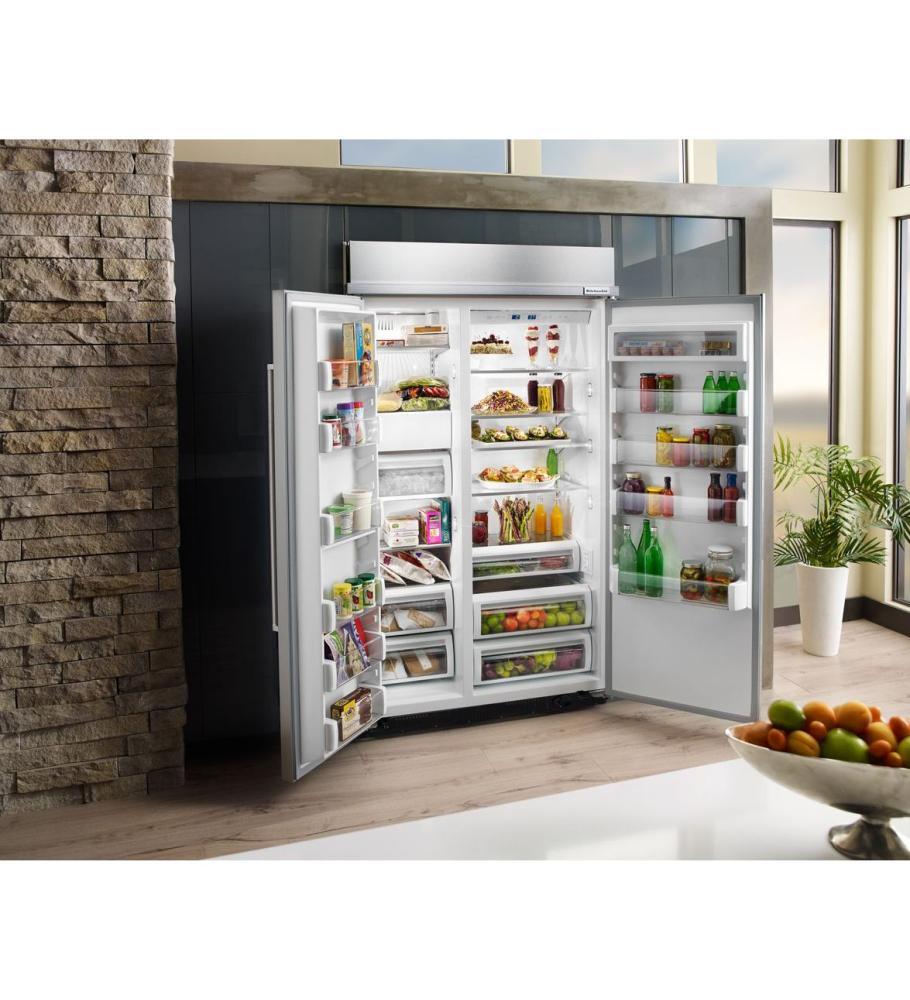 Superbe KITCHENAID 30.0 Cu. Ft 48 Inch Width Built In Side By Side Refrigerator