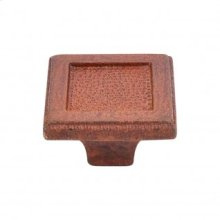 Square Inset Knob 2 Inch - True Rust