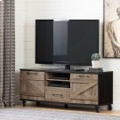 Industrial TV Stand on Wheels for TVs up to 65\ - Weathered Oak and Ebony Product Image