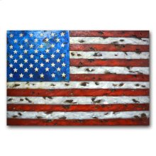 Old Glory 48x32 Metal Art