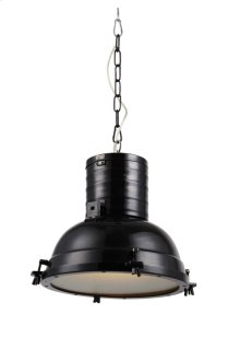 "Industrial Collection Chandelier D:15.75"" H:16"" Lt:1 Black Finish"