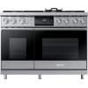 "48"" Pro Dual-Fuel Steam Range, Silver Stainless Steel, Liquid Propane/High Altitude"