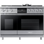 "Dacor48"" Pro Dual-Fuel Steam Range, Silver Stainless Steel, Liquid Propane"