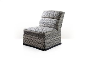 Nia II Upholstered Chair - Channeled Back & Skirted