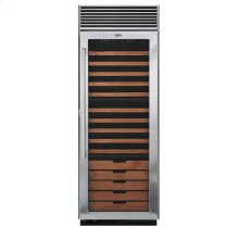 "Stainless Steel 30"" Full-Height Wine Cellar - DDWB (Left Hinge Clear Door)"