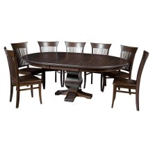 """60""""-1-20"""" Leaf**6/4 Thick Top** Pedestal Table"""